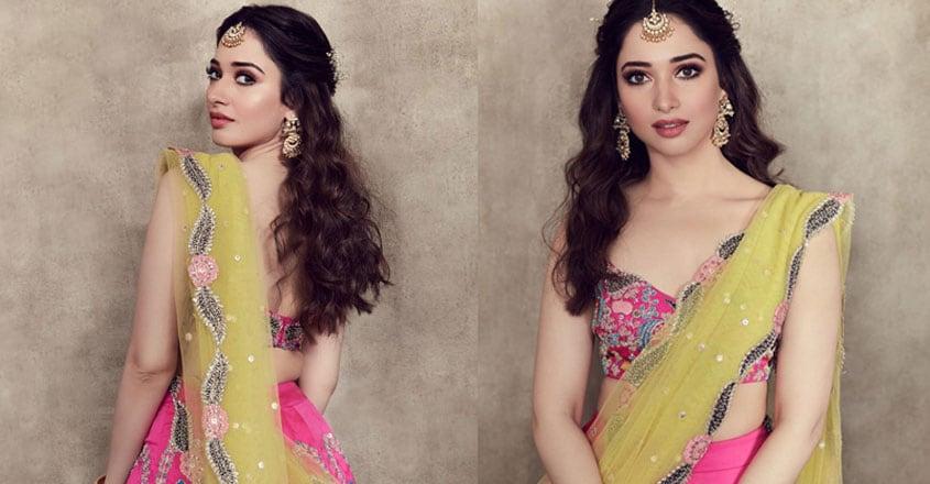 tamannaah-bhatia-wore-beautiful-lehenga-for-her-friends-wedding
