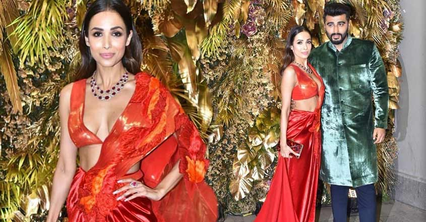 malaika-arora-hot-look-in-red-saree