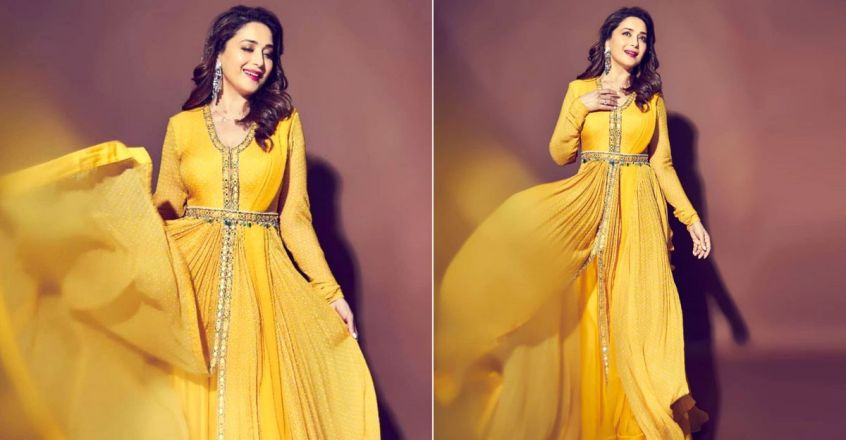 actress-madhuri-dixit-flaunts-in-yellow-anarkali