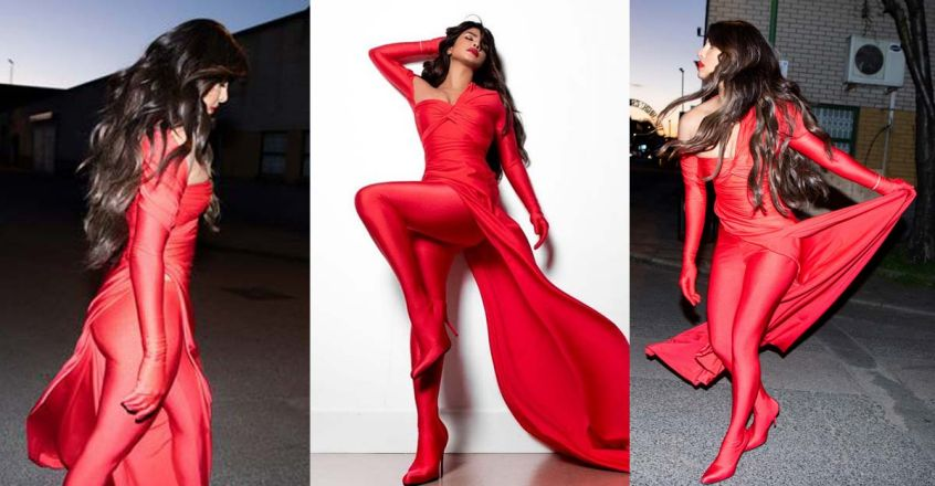 priyanka-chopra-red-outfit-for-nick-jonas-spaceman