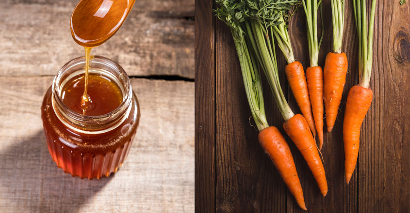 carrot-honey-face-mask-for-glowing-skin