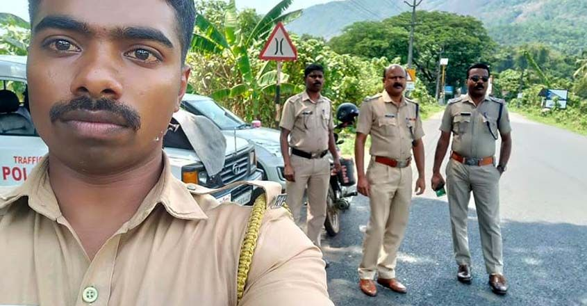 check-post-police-officers-neriamangalam