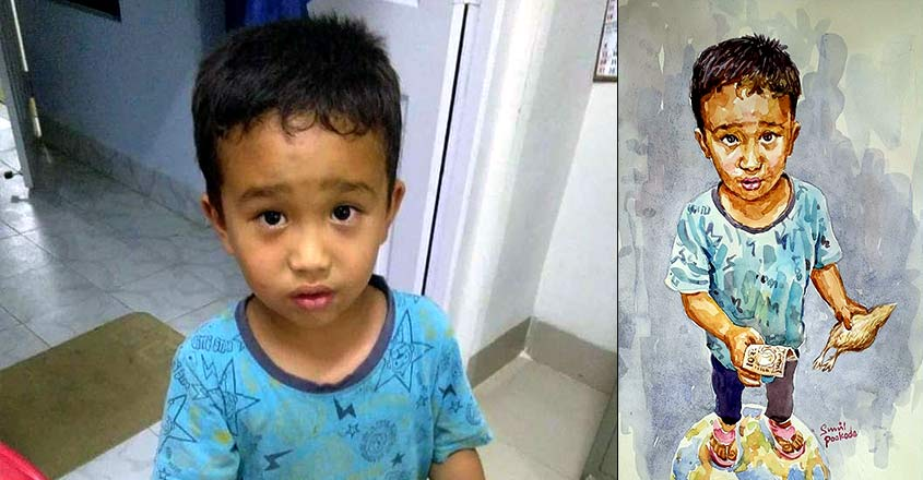 sunil-pookode-portrait-mizoram-boy-who-took-injured-chick-to-hospital