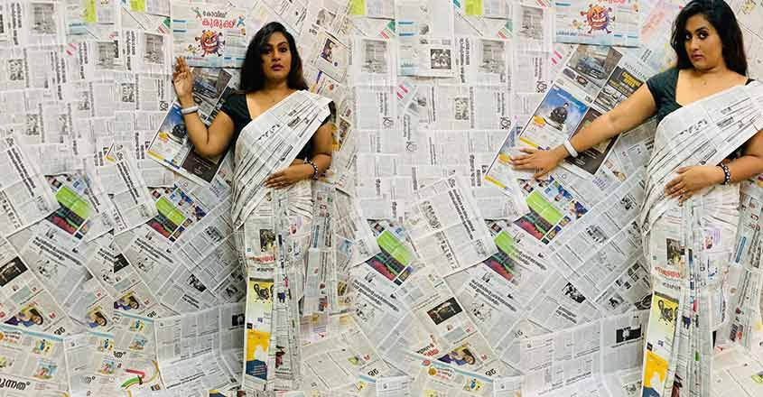 saree-made-from-news-paper-by-dishna-merin-mathews