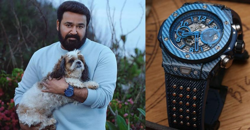 actor-mohanlal-looks-ultra-cool-in-an-aqua-green-t-shirt-with-a-20-lakh-hublot-watch