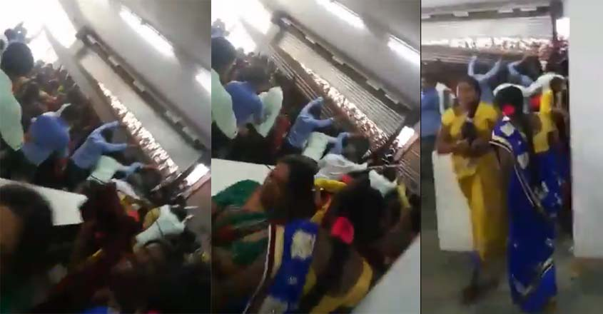 Stampede-like-situation-at-cmr-mall-in-Siddipet