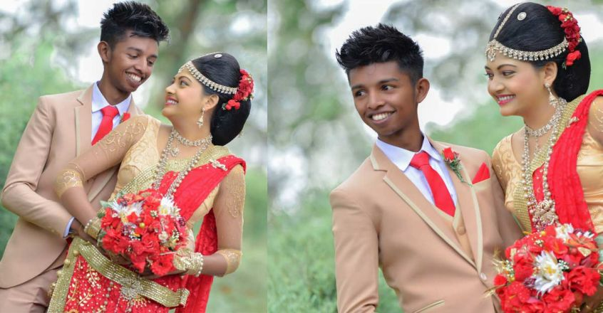 groom-look-like-kid-srilankan-wedding-shoot-viral-in-kerala
