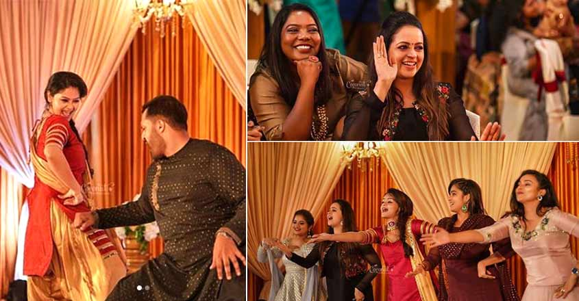 bhavana-shilpa-bala-sister-engagement-dance-video