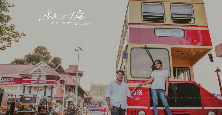 save-the-date-photoshoot-in-ksrtc-double-decker-bus