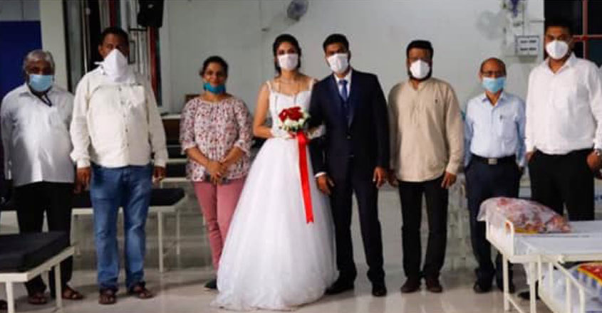 newly-wed-couple-donates-beds-oxygen-cylinders-covid-center