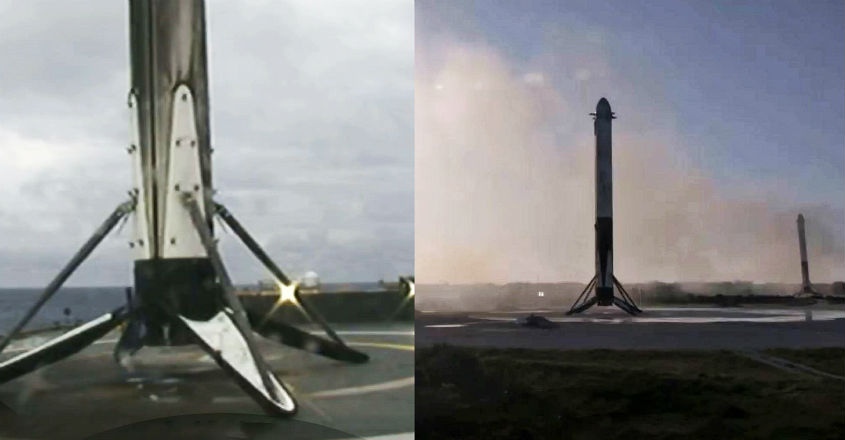 Falcon-Heavy-Flight-2-booster-landings-SpaceX-1