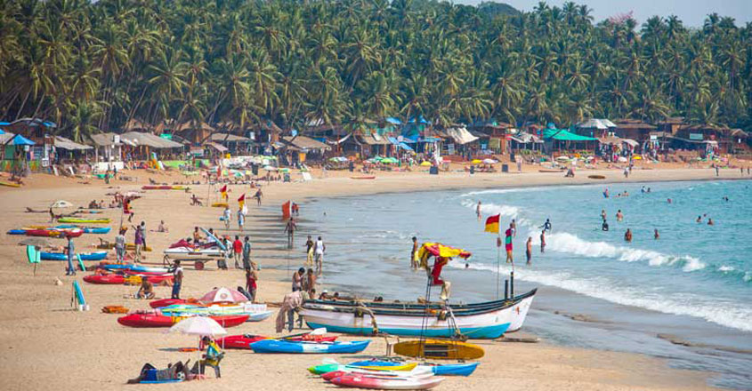 Goa, Panjim, View of Palolem Beach