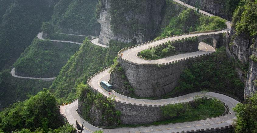 Tianmen-Mountain-road