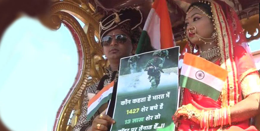 Gujarat Couple Takes Out Procession Ahead of Marriage to Pay Tribute to Pulwama Martyrs
