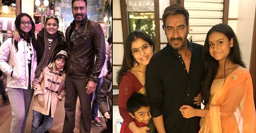 Ajay Devgn and Kajol With Their Kids