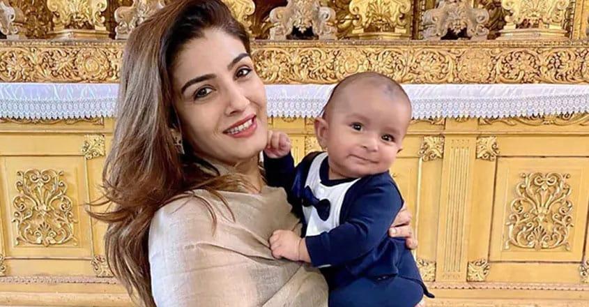 raveena-grandson