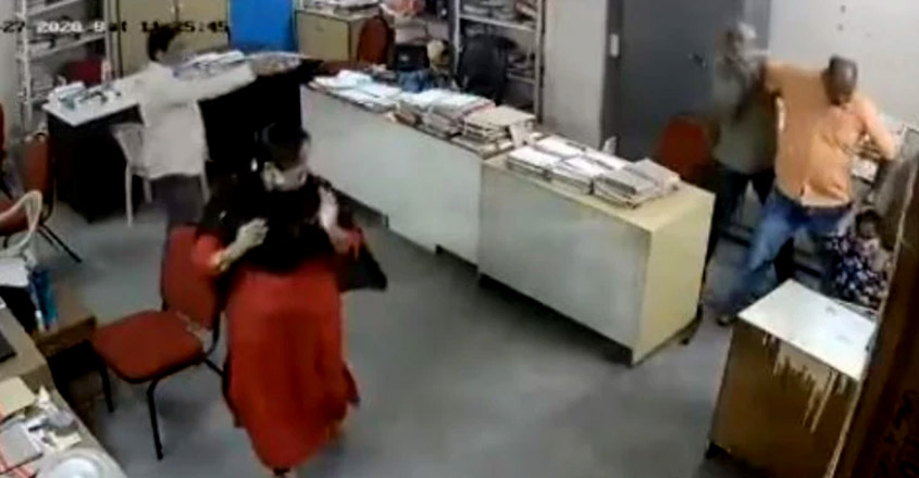 Andhra Tourism officer beats up disabled woman colleague for asking him to wear mask